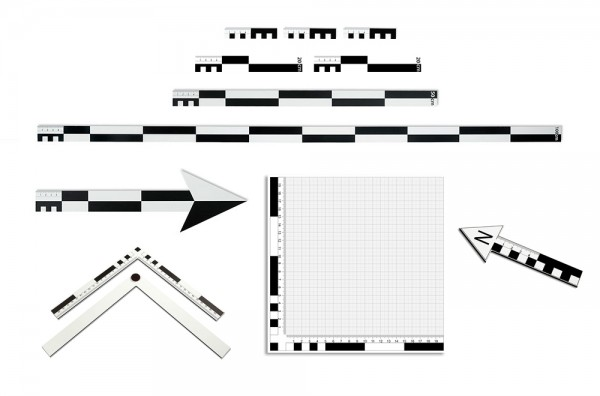 Fotomaßstab Dibond Set 12-teilig