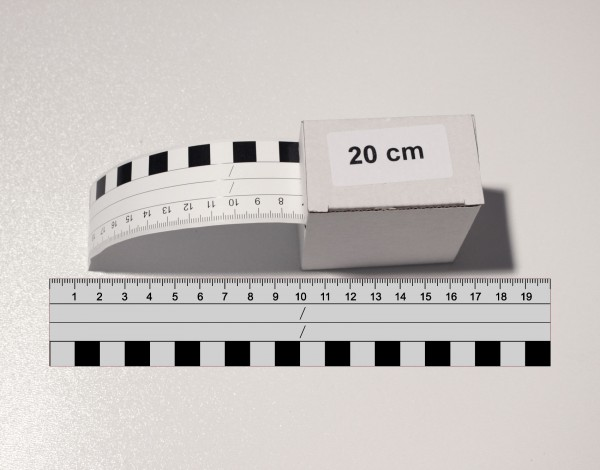 Fotomaßstab Aufkleber PP-Folie 20 cm