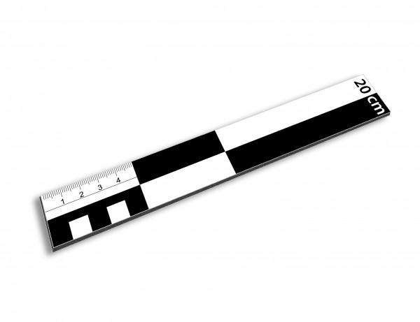 Fotomaßstab Dibond 20 cm