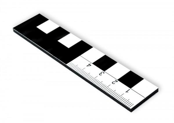Fotomaßstab Dibond 10 cm